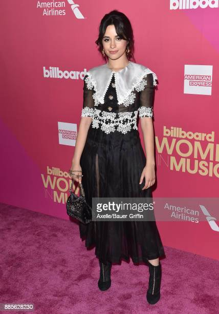 Singer Camila Cabello arrives at the Billboard Women In Music 2017 at The Ray Dolby Ballroom at Hollywood Highland Center on November 30 2017 in...
