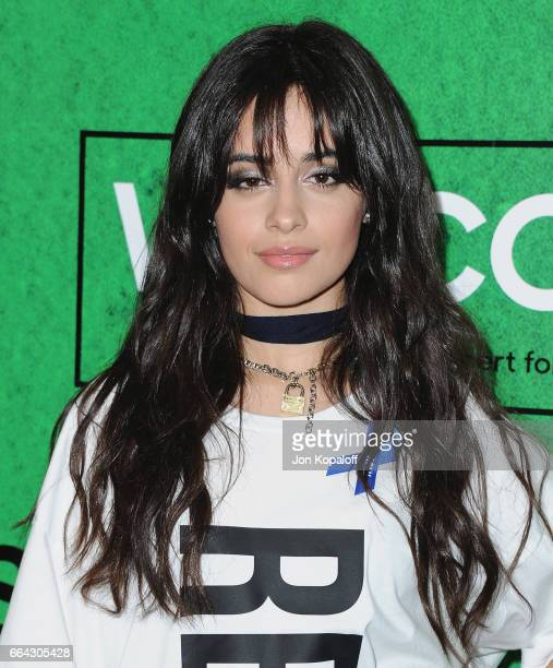 Singer Camila Cabello arrives at Zedd Presents WELCOME Fundraising Concert Benefiting The ACLU at Staples Center on April 3 2017 in Los Angeles...