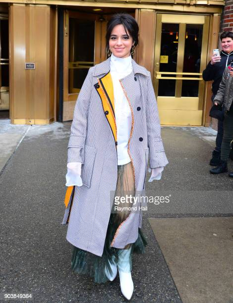 Singer Camila Cabello is seen coming out of Z100 on January 11 2018 in New York City