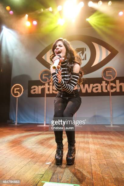 Singer Camila Cabello of Fifth Harmony performs at MTV Artist to Watch kickoff event at House of Blues Sunset Strip on January 23, 2014 in West...