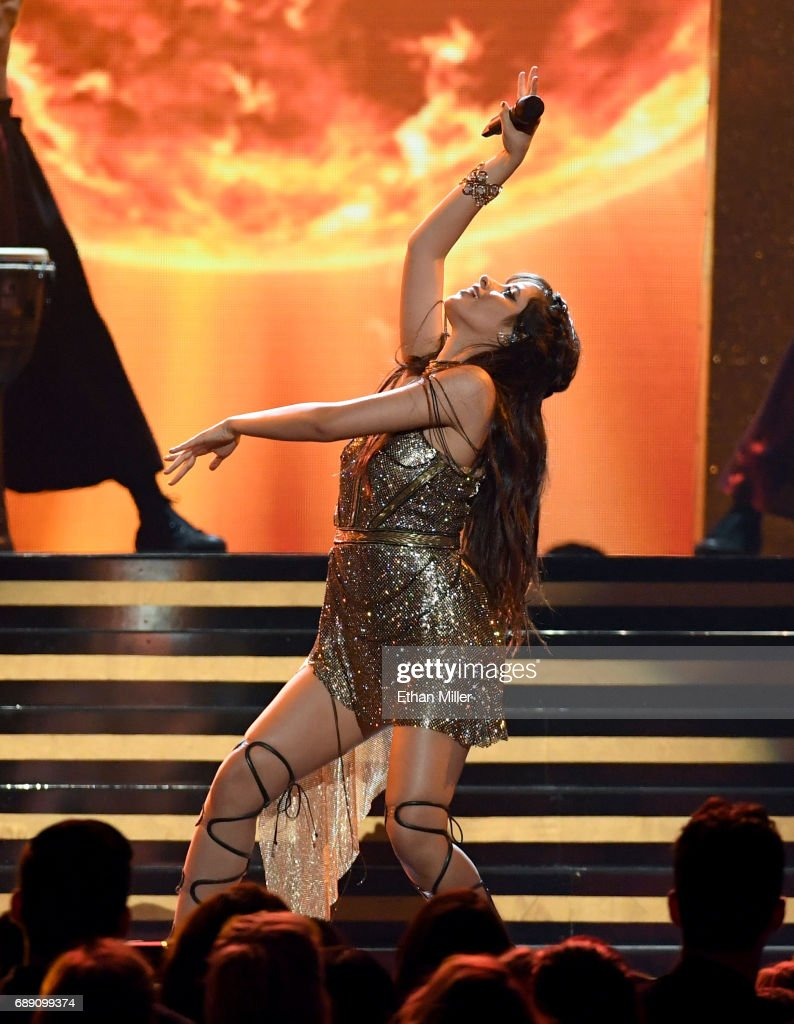 Singer Camila Cabello performs during the 2017 Billboard Music Awards at T-Mobile Arena on May 21, 2017 in Las Vegas, Nevada.