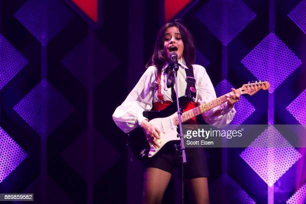 Singer Camila Cabello performs onstage during KISS 108's Jingle Ball 2017 presented by Capital One at TD Garden on December 10 2017 in Boston Mass