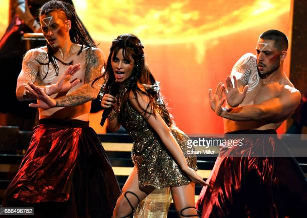 Singer Camila Cabello performs onstage during the 2017 Billboard Music Awards at TMobile Arena on May 21 2017 in Las Vegas Nevada