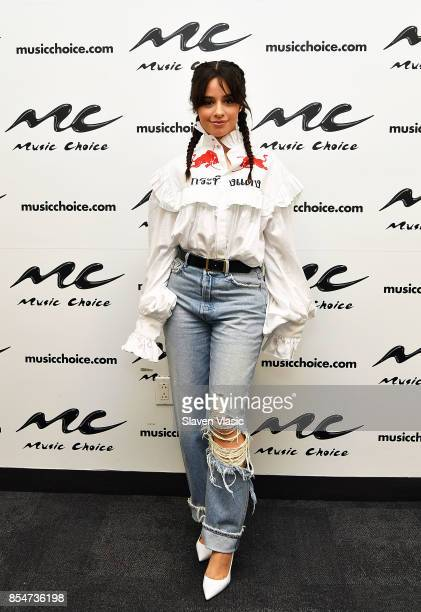 Singer Camila Cabello visits Music Choice on September 27 2017 in New York City