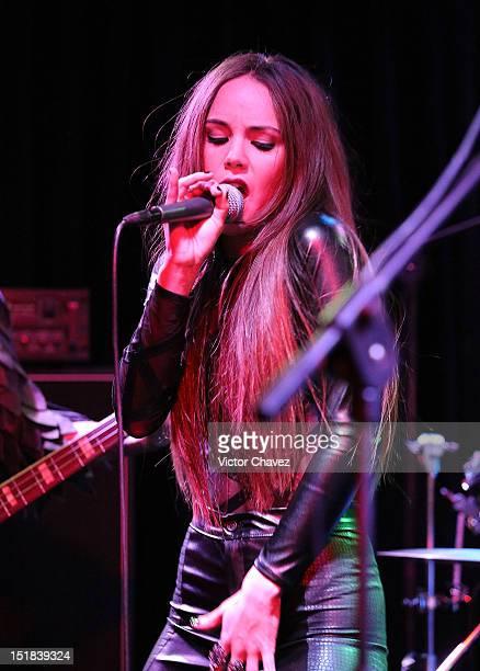 Singer Camila Sodi of Ella y El Muerto performs a showcase at El Imperial on September 11 2012 in Mexico City Mexico