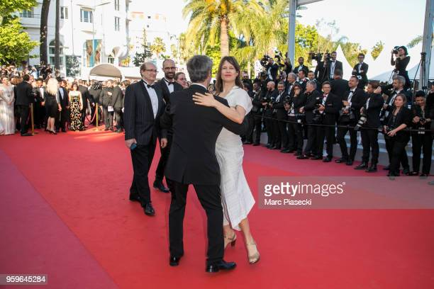 Singer Camille Dalmais attends the screening of 'Capharnaum' during the 71st annual Cannes Film Festival at Palais des Festivals on May 17 2018 in...