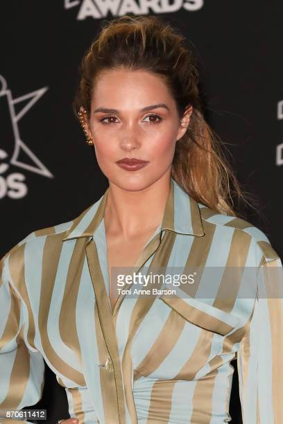 Singer Camille Lou arrives at the 19th NRJ Music Awards ceremony at the Palais des Festivals on November 4 2017 in Cannes France