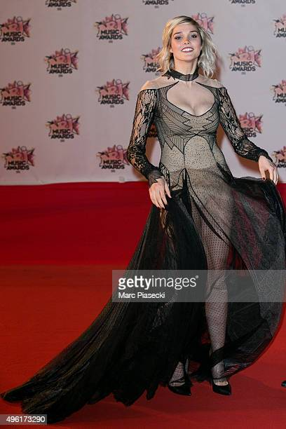 Singer Camille Lou attends the 17th NRJ Music Awards ceremony at Palais des Festivals on November 7 2015 in Cannes France