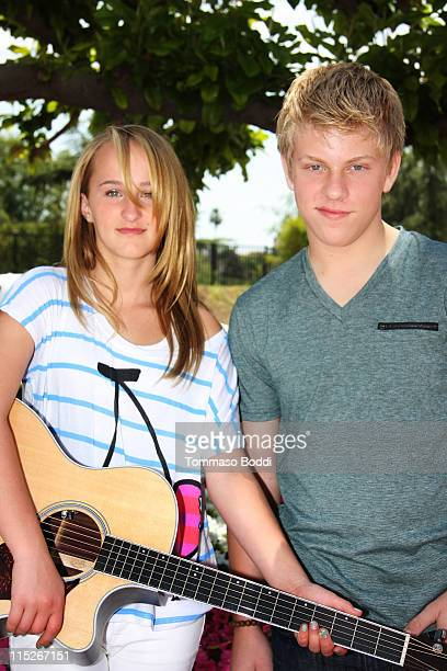 Singer Camryn and Jackson Odell attend Camryns' performance At The Judy Moody And The Not Bummer Summer event at the Grove on June 5 2011 in Los...