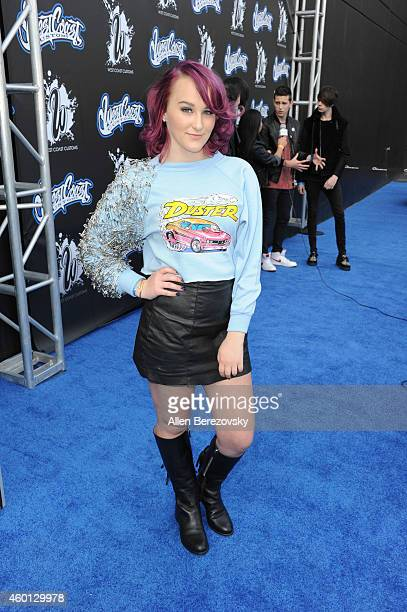 Singer Camryn attends the Grand Opening of West Coast Customs Burbank Headquarters at West Coast Customs on December 7 2014 in Burbank California
