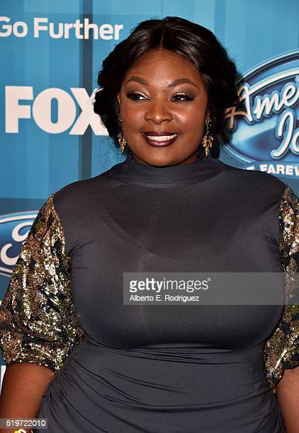 Singer Candice Glover attends FOX's American Idol Finale For The Farewell Season at Dolby Theatre on April 7 2016 in Hollywood California