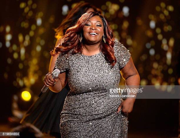 Singer Candice Glover performs onstage during FOX's American Idol Finale For The Farewell Season at Dolby Theatre on April 7 2016 in Hollywood...