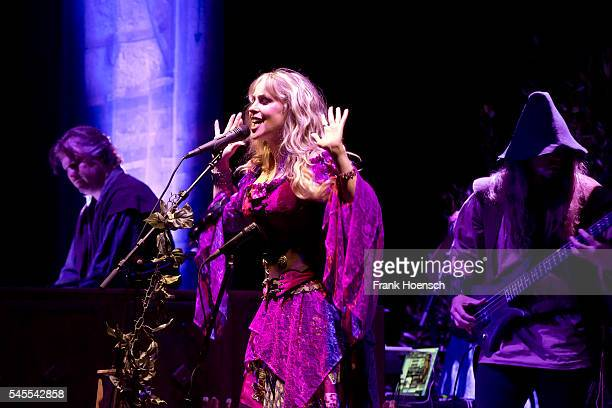 Singer Candice Night of Blackmore's Night performs live during a concert at the Admiralspalast on July 8 2016 in Berlin Germany