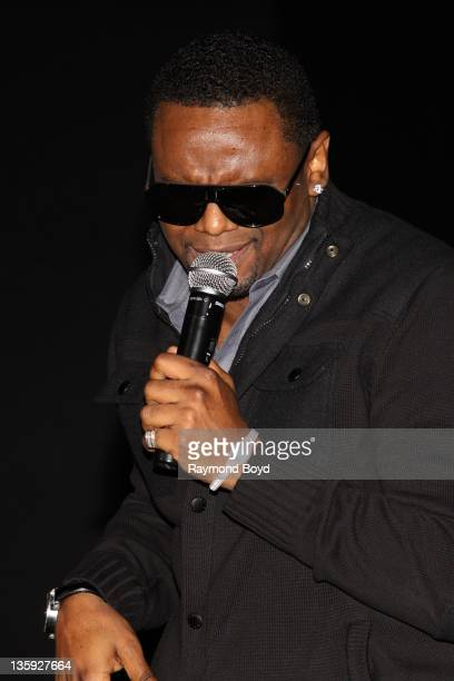 Singer Carl Thomas performs during The Experience With Carl Thomas at the DuSable Museum in Chicago Illinois on DECEMBER 06 2011