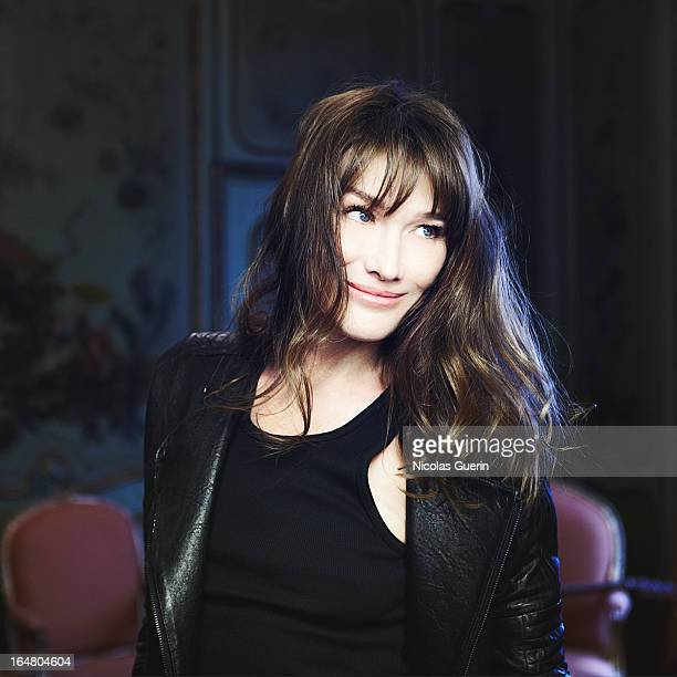 Singer Carla Bruni is photographed for Self Assignment on February 22 2013 in Paris France
