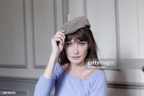Singer Carla Bruni is photographed for Self Assignment on March 29 2013 in Paris France