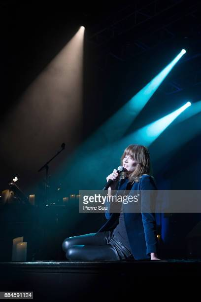 Singer Carla Bruni is seen performring her new show at Le Trianon on December 2 2017 in Paris France