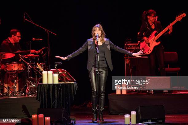 Singer Carla Bruni performs on stage on December 6 2017 in Frankfurt am Main Germany