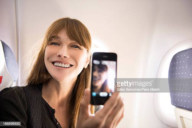 Singer Carla Bruni travels to Berlin for the Echo Music Awards where she will sing from her new album Little French Songs photographed for Paris...