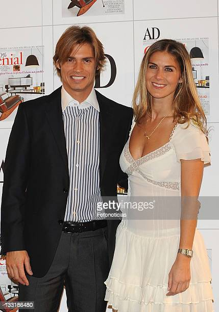 Singer Carlos Baute and Beatriz Mirahazne arrive at the AD Magazine Architecture Awards party at the Casino de Madrid on March 4 2009 in Madrid Spain