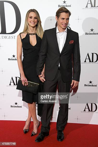 Singer Carlos Baute and wife Astrid Klisans attend the AD Awards 2014 at the Santa Coloma Palace on February 27 2014 in Madrid Spain