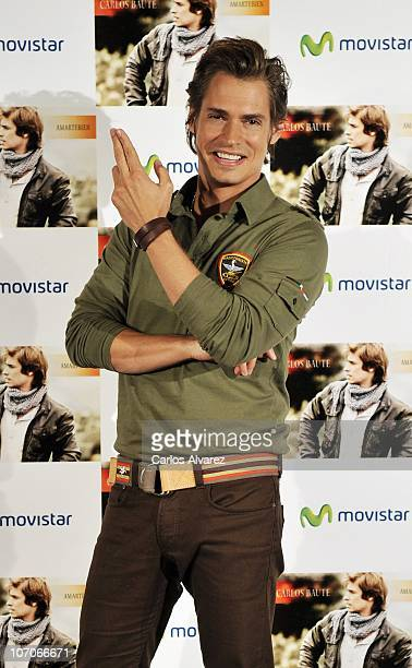 Singer Carlos Baute presents his new album 'Amartebien' at Villa Real Hotel on November 22 2010 in Madrid Spain