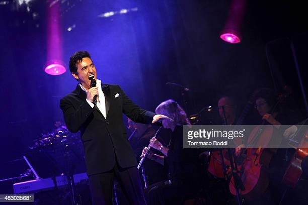 Singer Carlos Marin of Il Divo performs at the Dolby Theatre on April 5 2014 in Hollywood California