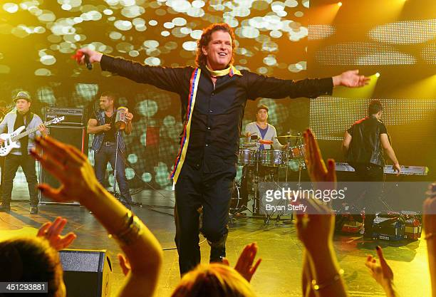 Singer Carlos Vives performs onstage at The 14th Annual Latin GRAMMY Awards after party at the Mandalay Bay Events Center on November 21 2013 in Las...