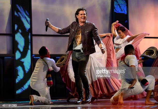 Singer Carlos Vives performs onstage during the 14th Annual Latin GRAMMY Awards held at the Mandalay Bay Events Center on November 21 2013 in Las...