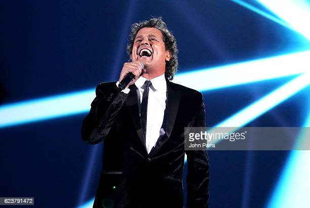 Singer Carlos Vives performs onstage during the 2016 Person of the Year honoring Marc Anthony at MGM Grand Garden Arena on November 16 2016 in Las...