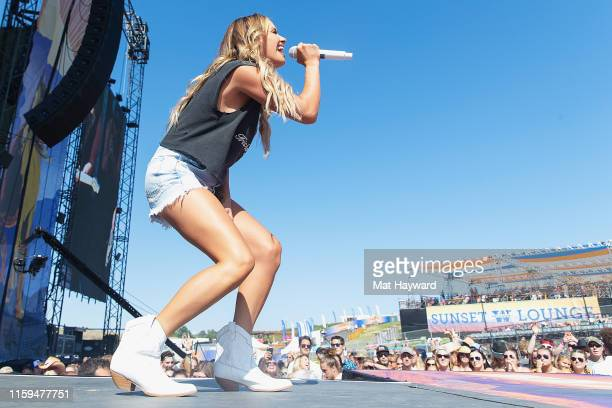 Singer Carly Pearce performs on stage during the Watershed Country Music Festival at the Gorge Amphitheatre on August 3 2019 in George Washington