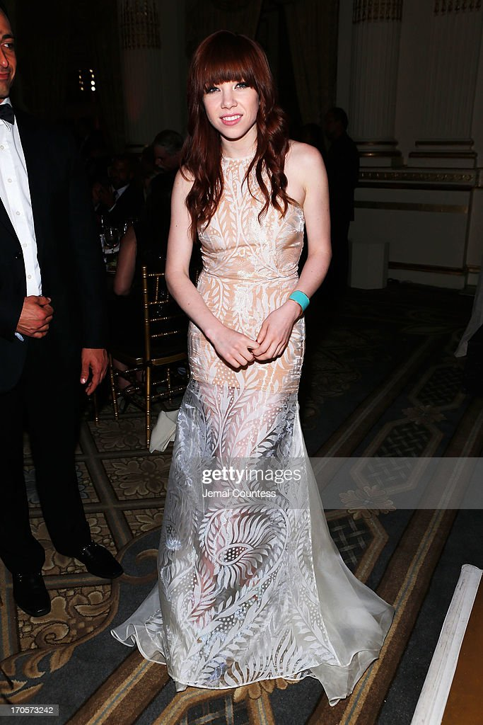 Singer Carly Rae Jepsen attends the 4th Annual amfAR Inspiration Gala New York at The Plaza Hotel on June 13, 2013 in New York City.