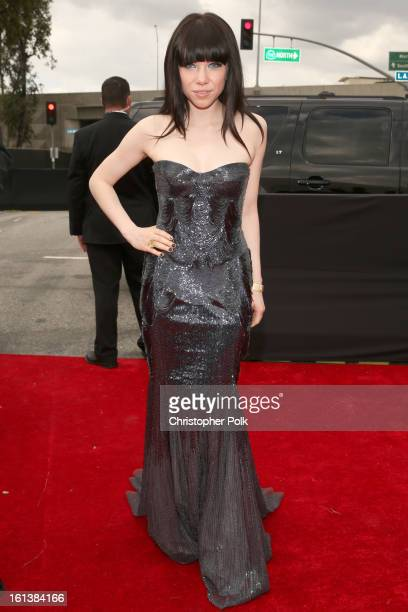 Singer Carly Rae Jepsen attends the 55th Annual GRAMMY Awards at STAPLES Center on February 10 2013 in Los Angeles California