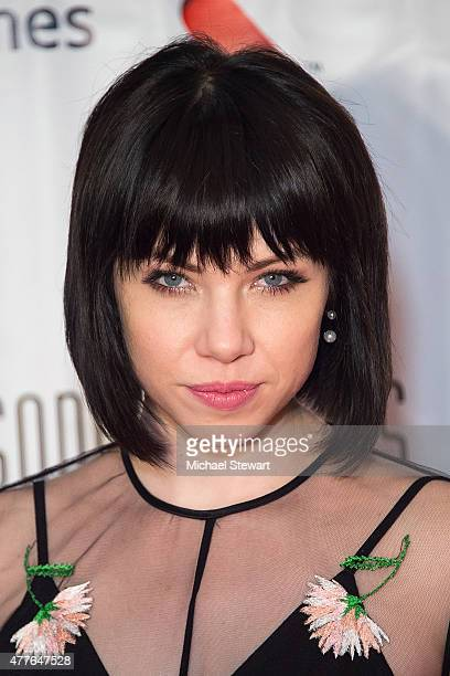 Singer Carly Rae Jepsen attends the Songwriters Hall of Fame 46th Annual Induction and Awards at Marriott Marquis Hotel on June 18 2015 in New York...