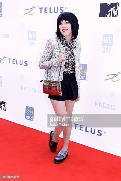 Singer Carly Rae Jepsen attends WE Day Toronto at the Air Canada Centre on October 1, 2015 in Toronto, Canada.