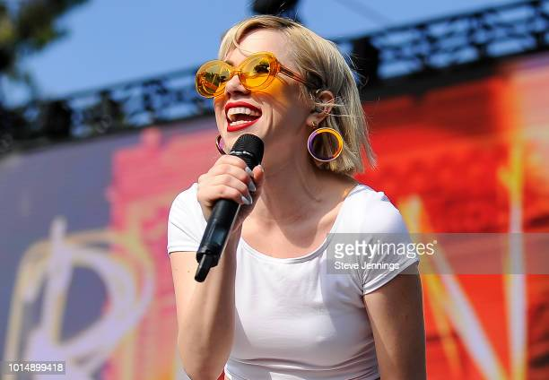 Singer Carly Rae Jepsen performs at the 2018 Outside Lands Music Arts Festival on Day 1 at Golden Gate Park on August 10 2018 in San Francisco...
