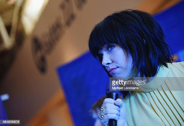 Singer Carly Rae Jepsen performs during JetBlue's Live From T5 at John F Kennedy International Airport on August 20 2015 in New York City