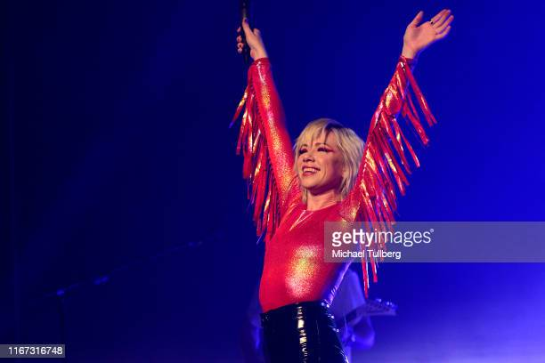 Singer Carly Rae Jepsen performs on her Dedicated Tour at The Wiltern on August 10 2019 in Los Angeles California