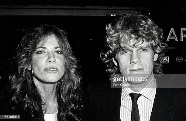Singer Carly Simon and actor Al Corley attending the party for 'Sophie's Choice' on December 5 1982 at the Atrium in New York City New York