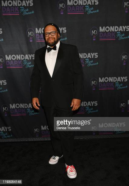 Singer Carnell Johnson arrives at the 6th anniversary of Mondays Dark With Mark Shunock at the Pearl Concert Theater at Palms Casino Resort on...