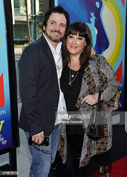 Singer Carnie Wilson and her husband musician Rob Bonfiglio arrive at the Love Mercy Los Angeles premiere at the Samuel Goldwyn Theater on June 2...