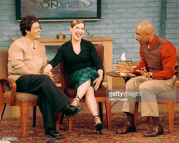 Singer Carnie Wilson And Her Husband Musician Rob Bonfiglio Talk In This Undated Photo With Host Montel Williams On The Montel Williams Show Wilson...