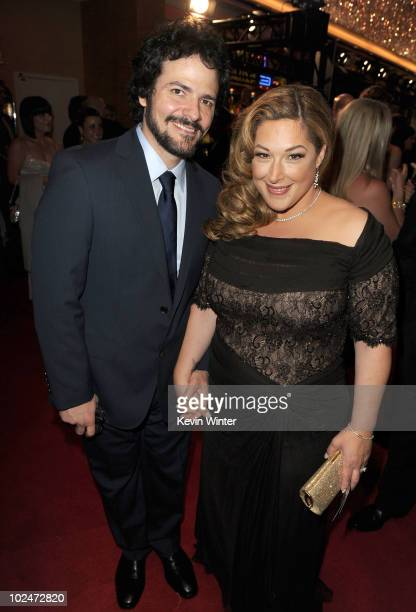 Singer Carnie Wilson and husband Rob Bonfiglio arrives at the 37th Annual Daytime Entertainment Emmy Awards held at the Las Vegas Hilton on June 27...