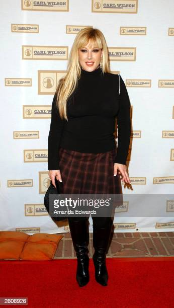 Singer Carnie Wilson arrives at the Carl Wilson Benefit Foundation Concert An Evening With Brian Wilson Friends at UCLA's Royce Hall on October 16...