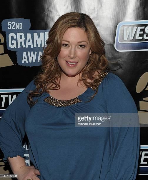 Singer Carnie Wilson attends the 52nd Annual GRAMMY awards backstage at the GRAMMYs Day 1 held at at Staples Center on January 28 2010 in Los Angeles...