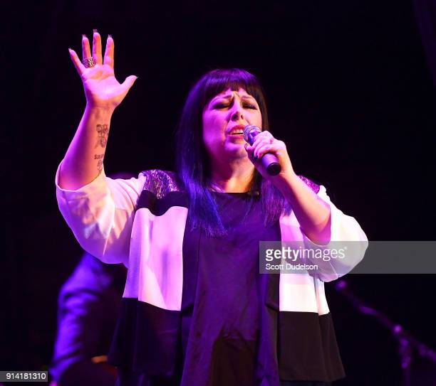 Singer Carnie Wilson of the band Wilson Phillips performs onstage at The Canyon Club on February 3 2018 in Agoura Hills California