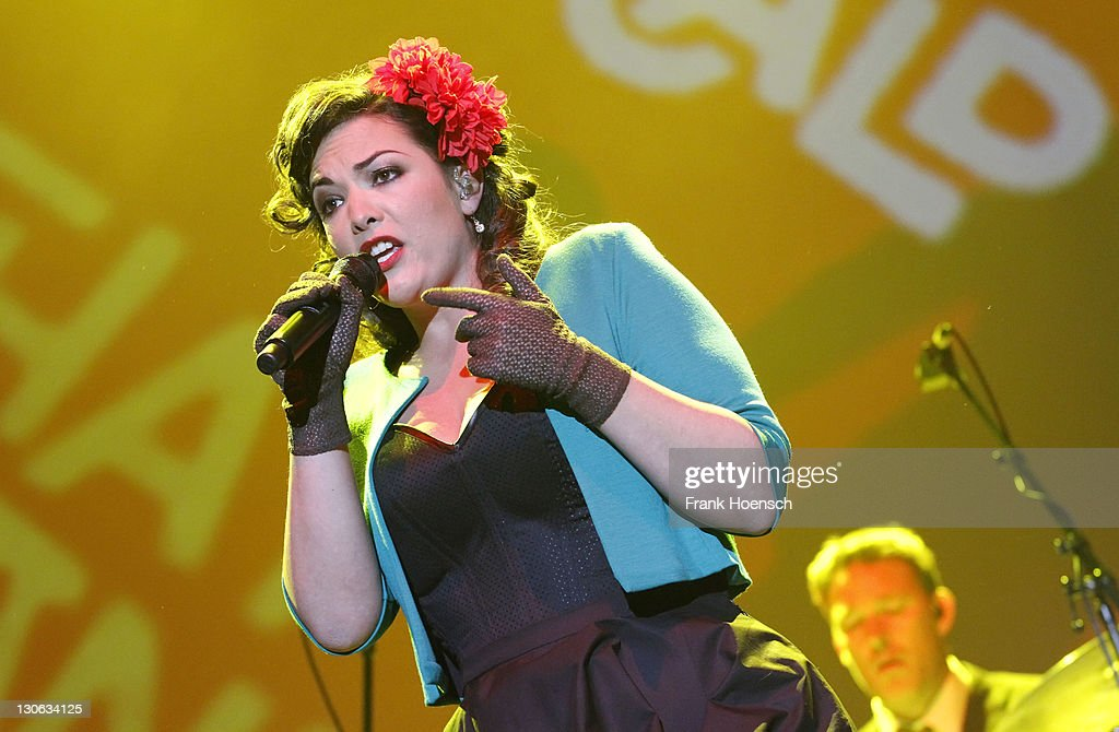 Singer Caro Emerald performs live during a concert at the