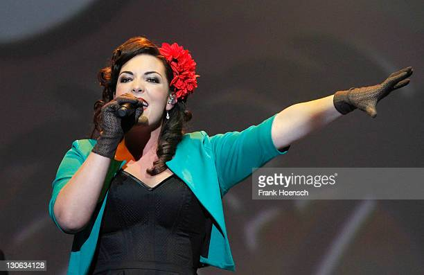 Singer Caro Emerald performs live during a concert at the Tempodrom on October 27 2011 in Berlin Germany