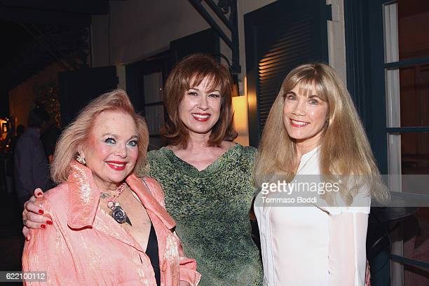 Singer Carol Connors actresses Lee Purcell and Barbi Benton attend the TWCDimension celebrates the Cast and Filmmakers of Gold at the private...