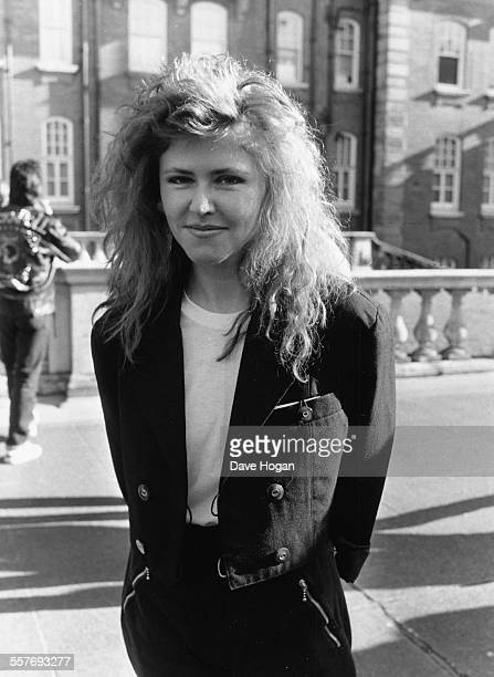 Singer Carol Decker of the band 'T'Pau' at the British Phonographic Industry Awards in London February 8th 1988